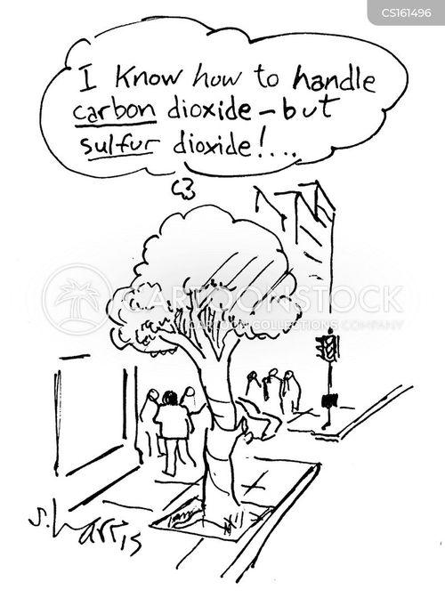 polluted air cartoon