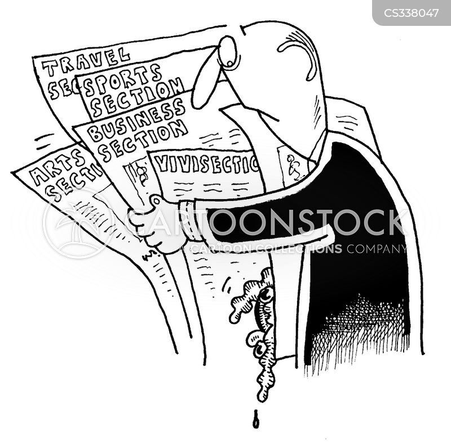 sunday papers cartoon