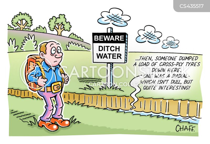 ditches cartoon