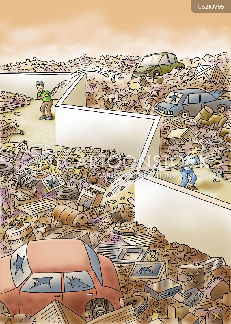 garbage dump cartoon