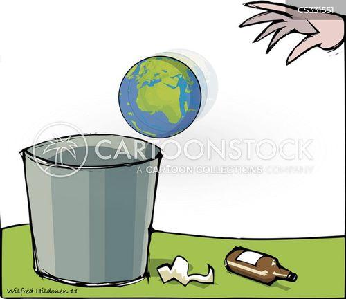 throw away cartoon