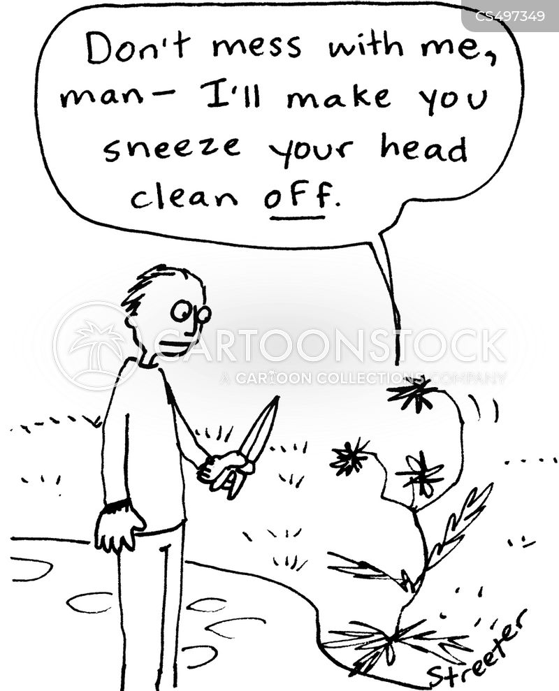 pollen allergies cartoon