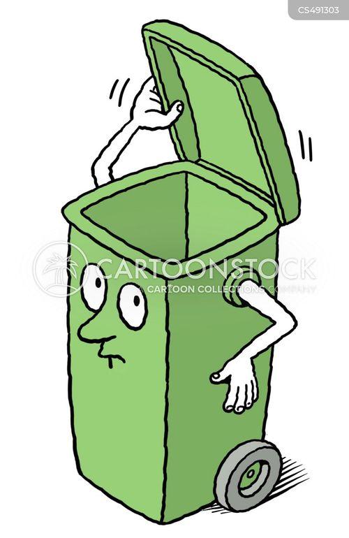 wheelie bins cartoon