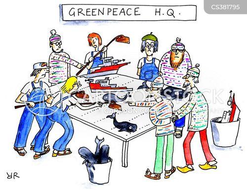 environmental damage cartoon