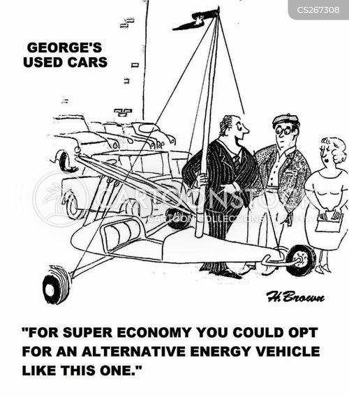 fuel efficient cartoon