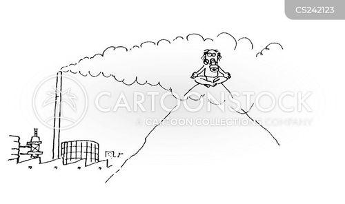 factory pollution cartoon