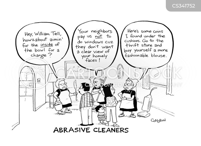 cleaning services cartoon