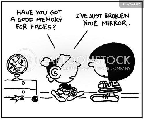 reflects cartoon