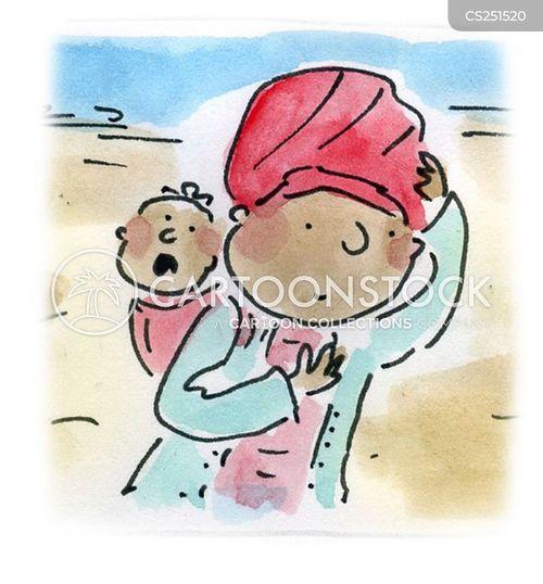 baby sling cartoon