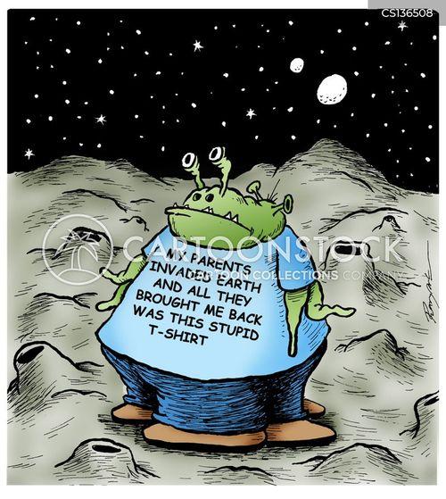 alien visit cartoon