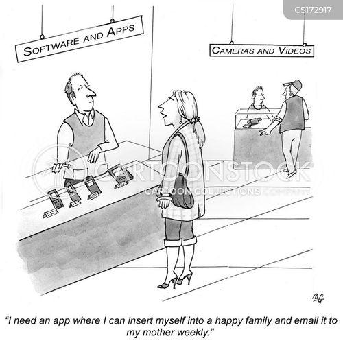 app stores cartoon