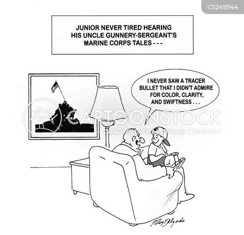 marine corps cartoon