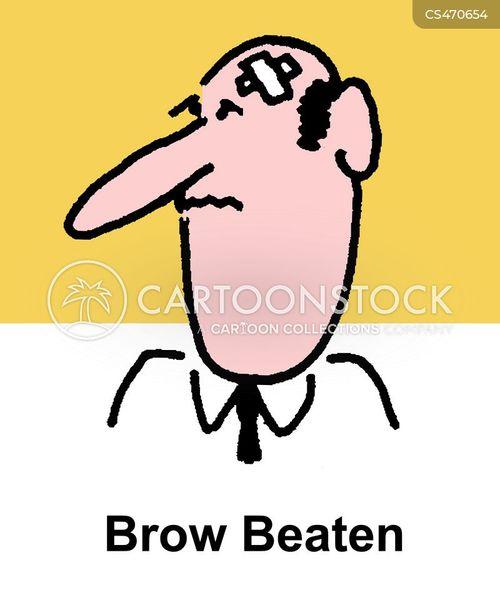 brow beaten cartoon