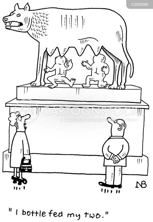 capitoline wolf cartoon