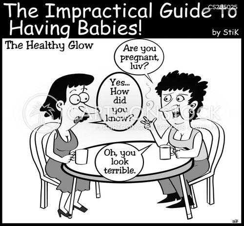 morning sickness cartoon