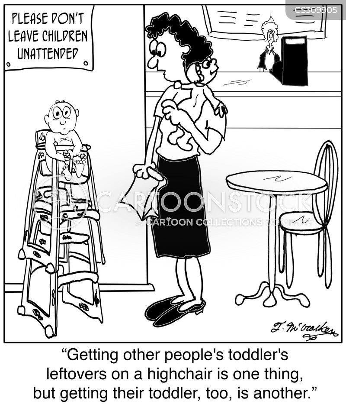 highchairs cartoon