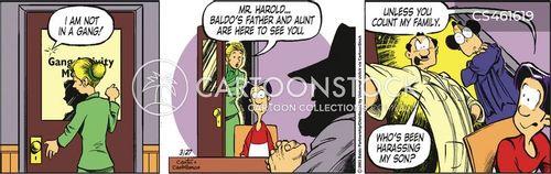 close families cartoon