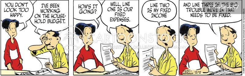 family expenses cartoon