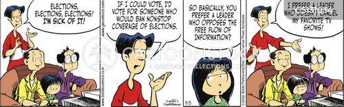 political coverage cartoon