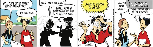 bilingual family cartoon