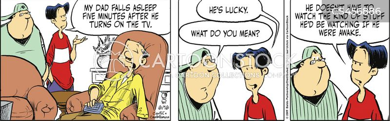 tv napping cartoon