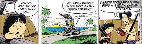 beach trips cartoon