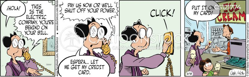 late payment cartoon