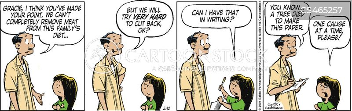 cuts back cartoon