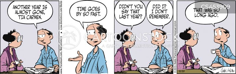 passing of time cartoon