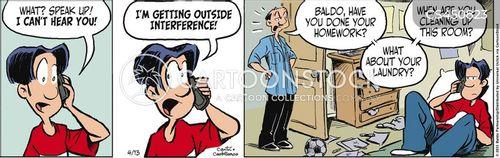 phone conversations cartoon