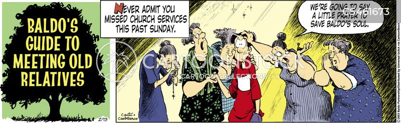 churchgoing cartoon