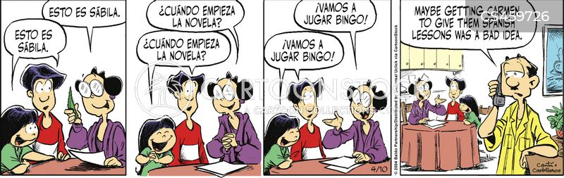 spanish lessons cartoon