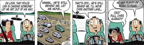 moving violations cartoon