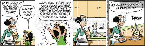 vegetarian diet cartoon
