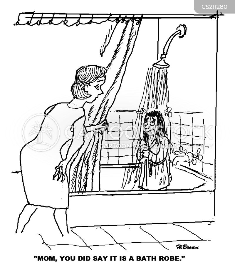 Bath Robes Cartoon 4 Of