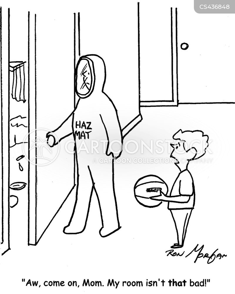 hazard suits cartoon