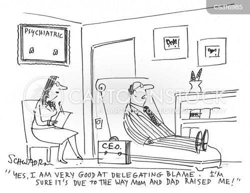 delegating blame cartoon