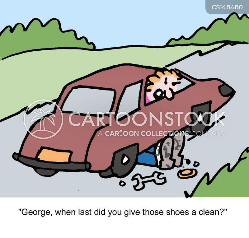 car breakdowns cartoon