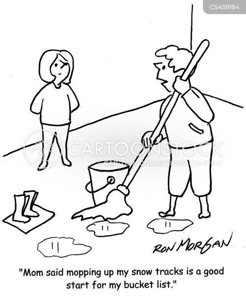 bucket lists cartoon