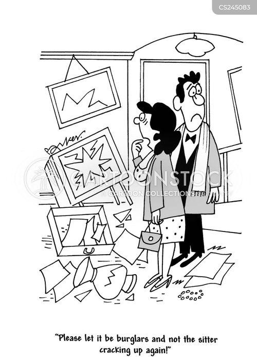 cracking up cartoon
