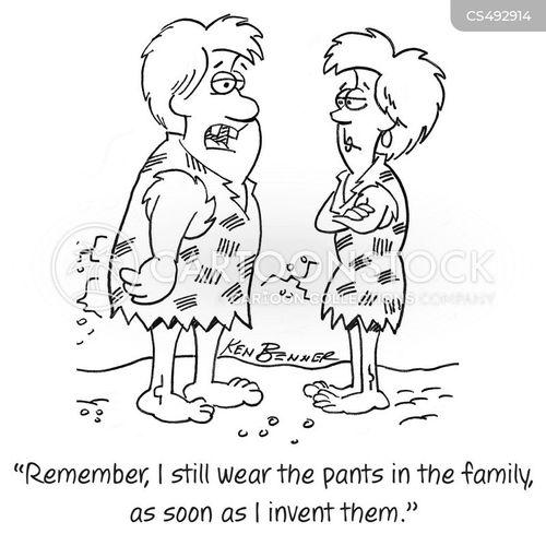 wear the pants cartoon