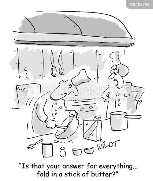 pastry chefs cartoon