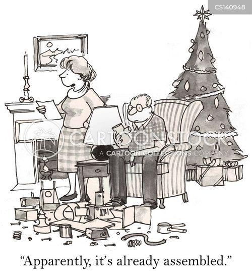 christmas morning cartoon