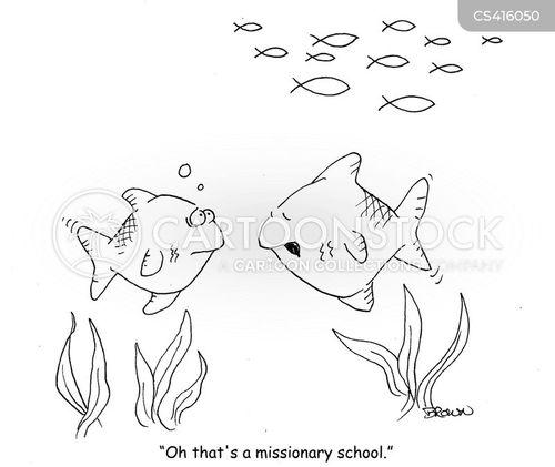 fish schools cartoon