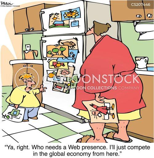 internet presence cartoon