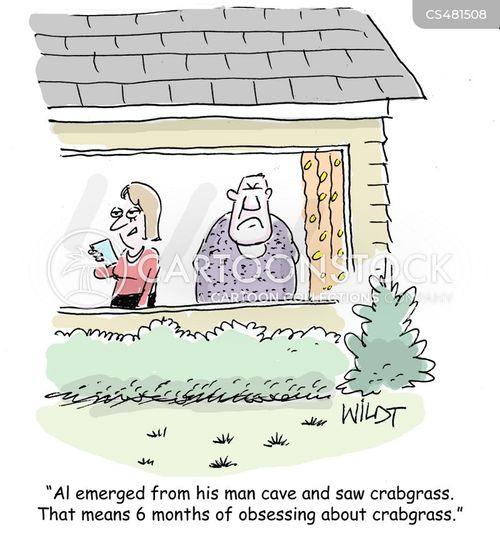 crabgrass cartoon