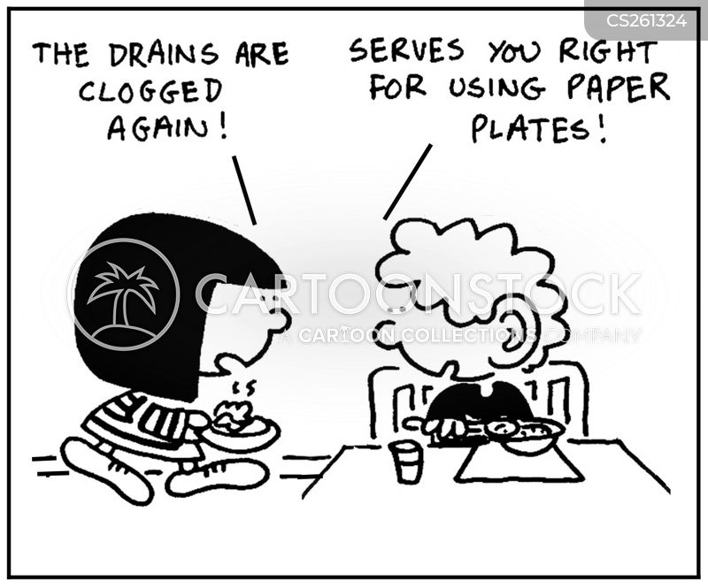 crockery cartoon