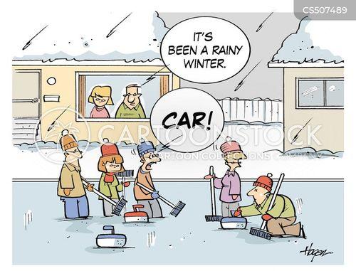 curler cartoon
