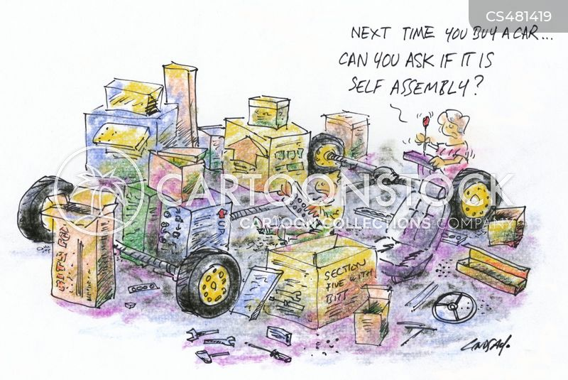 car building cartoon