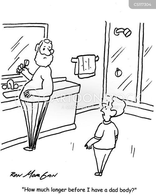 dad bod cartoon